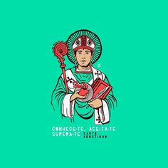 Conhece-te, aceita-te, supera-te! Santo Agostinho. Saints, Catholic Art, Corpus Christi, Cartoon, Wallpaper, Instagram, Religious Art, Jesus Is, Catholic Saints