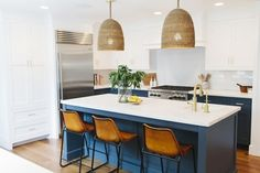Our Combinations for a Classic Kitchen post has been so popular that we decided to share our take on the modern kitchen! I love streamlined selections as long as there are a few warm elements like nat