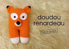 AMIGURUMI FOX - Doudou renard au crochet, patron gratuit pour un joli cadeau de naissance DIY !