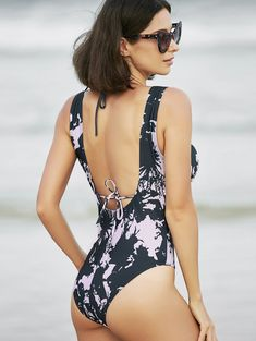 Refreshing Women's Open Back Print Swimwear Bikini Swimwear, Bikini Set, Swimsuits, Women's Bikinis, Clothes Horse, Bathing Suits, Going Out, Fashion Beauty, One Piece