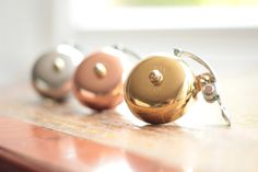 Handmade Bicycle Bell Available in brass silver by TempleCycles