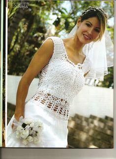 Modelos de vestidos de novia tejidos