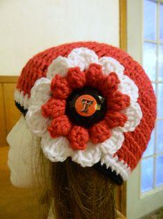 Texas Tech Crochet Hat Beanie