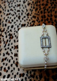 Vintage Rhinestone Buckle and Pearl by simplymeart on Etsy, $65.00