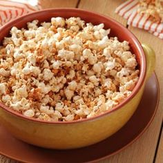 Buffalo Ranch Popcorn Ingredients 16 cups popped popcorn 1/3 cup buffalo wing sauce 2 tablespoons butter, melted    1/8 teaspoon cayenne pepper 1 tablespoon ranch salad dressing mix Additional cayenne pepper to taste Directions Place popcorn in a large bowl. In a small bowl, combine the wing sauce, butter and cayenne; drizzle over popcorn and toss