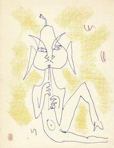 Jean Cocteau - Faun Flutiste