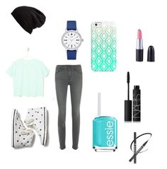 """""""Mall day"""" by lkr82203 ❤ liked on Polyvore featuring Keds, Frame Denim, LOFT, Kate Spade, Free People, Casetify, Essie and NARS Cosmetics"""
