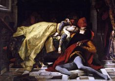 """Alexandre Cabanel: """"Morte di Francesca da Rimini e di Paolo Malatesta"""", 1870, oil on canvas, Dimensions:184 × 255 cm (72.4 × 100.4 in), Musée d'Orsay, Paris."""