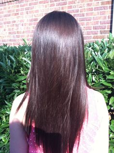 My Dark brunette hair color