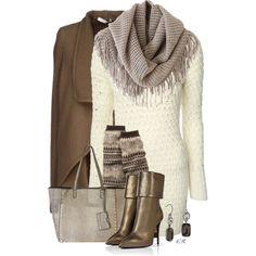 Sweater Dress, Leg Warmers & Metallic Ankle Boots