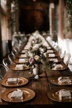 Moody modern wedding at Cherry Hollow Farms in Atlanta