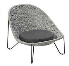 BOREK rope Pasturo lounge chair iron grey
