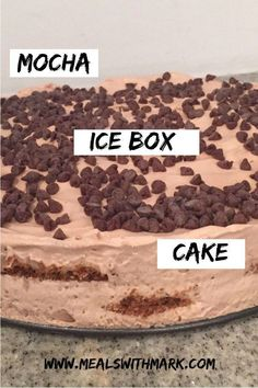 NO BAKE MOCHA ICE BO