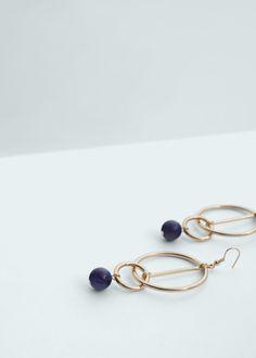 Beaded pendant earrings - Jewellery for Women   MANGO USA