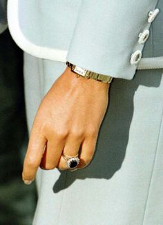Diana, Princess of Wales, still wearing her engagement ring and wedding band as she arrives for a lunch function at the London headquarters of the English National Ballet on August 28, 1996. The decree absolute was issued today ending the 15 year marriage between the Prince and Princess of Wales.