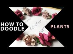 Easy doodle drawing tutorial. How to draw plants in 3 easy and quick ways!