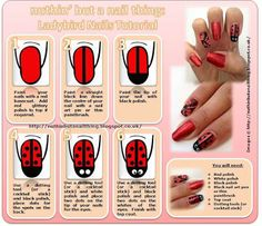 ladybird nail tutorial