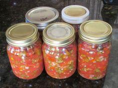 Fresh Homemade Salsa for Canning
