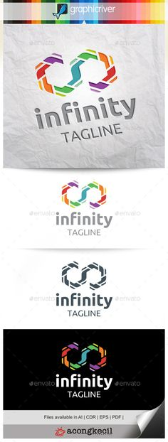 Infinity V.8 Logo Template Suitable for : Company Logo, Business, Office, Studio, organization or your product name, etc. Descr