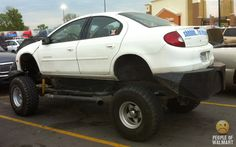 You just NEVER know what you'll see in a WalMart parking lot, either!