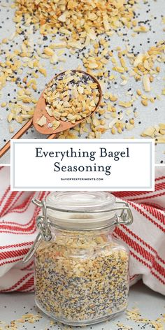 Everything Bagel Seasoning (The Perfect Everything Seasoning Blend!) Easy Everything Spice Recipe - Everything Bagel Seasoning is all of the flavor and goodness of the everything bagel spices so you can sprinkle it on anything! Pork Recipes, Keto Recipes, Healthy Recipes, Copycat Recipes, Jamaican Recipes, Dishes Recipes, Ketogenic Recipes, Family Recipes, Recipes Dinner