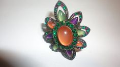 Colorful Flower Chunky Cocktail Ring by PatsapearlsBoutique, $14.99