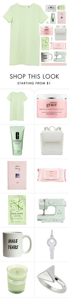 """""""No title."""" by marysilvs1 ❤ liked on Polyvore featuring philosophy, Clinique, ASOS, Mamonde, H&M, CASSETTE, John Lewis, Rembrandt Charms, A.P.C. and Topshop"""