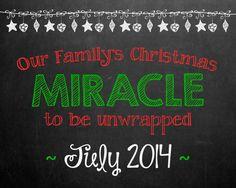 Christmas Pregnancy Announcement Chalkboard Photo by MMasonDesigns, $15.00