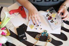 {DIY} Jeweled Cluth | Nicolette Mason