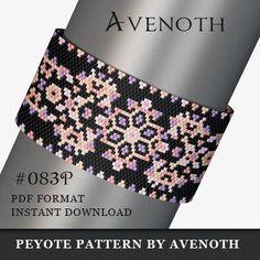 peyote bracelet pattern bead pattern beading peyote stitch