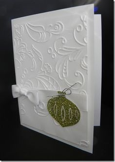 Hi Everyone,   As much as I tried the Elegant Lines Embossing Folder is so lovely I just couldn't cover it up. I did a white card base (I kn...