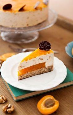 """Barackos buboréktorta"" - Magyarország cukromentes tortája 2015. Torte Cake, Eat Pray Love, Cookie Cups, Hungarian Recipes, Mousse Cake, Cake Tutorial, Cheesecake, Deserts, Food And Drink"
