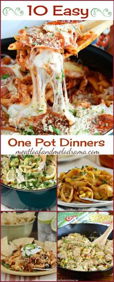 10 Easy One Pot Dinners That are Perfect for Busy Weeknights and are Kid Approved. Perfect for back to school!