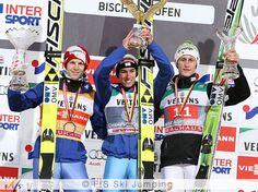 Congratulations to the Top 3 of the 63rd 4-Hills-Tournament!  #skijumping #4hills - cu Michael Hayböck, Stefan Kraft şi Peter Prevc.