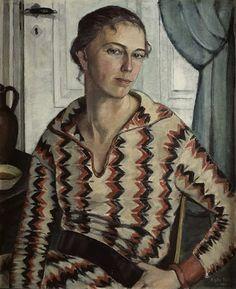 Agda Holst (Suède, 1886-1976) – Autoportrait (1925) Malmö Konstmuseum