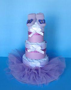 Tutu Diaper Cake  3 Tier Diaper Cake  by PamperedBabyCreation, $49.00