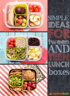 Simple Ideas For Teen Lunch Boxes by naturebox #Lunch #Teens