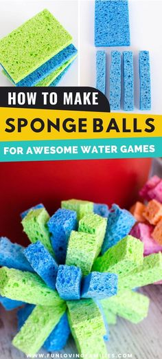 Stay cool with some fun water games this summer. We'll show you how to make these easy DIY sponge balls that can be reused all summer. Way better than water balloons, and more fun! See how to make them here. #summerfun #diy #watergames Creative Activities For Kids, Outdoor Activities For Kids, Outdoor Games, Outdoor Play, Water Activities, Family Activities, Summer Fun List, Summer Diy, Summer Ideas