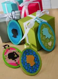 Mod Podge Silhouette Gift Tags