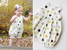 Baby Dress to Bubble Romper Tutorial