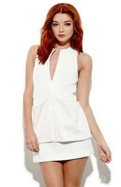 Cameo white sky dress white.