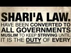 ▶YouTube THIS WILL EFFECT YOU in the near future, please educate yourself and your family. Sharia Law