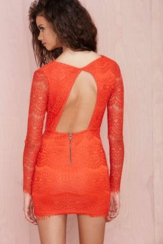 ❤️All'❤️❤️Reverse Havana Lace Dress - Going Out | Body-Con | Reverse | Lace Dresses | Dresses | All | Party Perfect | Lace + Fringe | Pop Of Color | All
