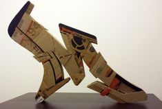 Graffiti and fine artist Alecks Cruz seamlessly brings the streets to the gallery through his three-dimensional graffiti letters sculptures, all meticulously handcrafted out of cardboard.