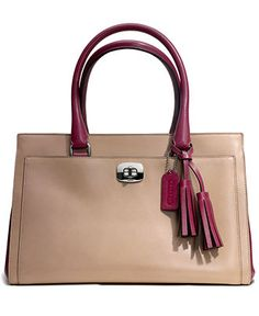 COACH LEGACY CHELSEA CARRYALL IN TWO TONE LEATHER - Coach Handbags - Handbags & Accessories - Macy's