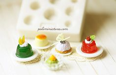 Miniature Clay Mold Push Mold for Dollhouse by miniaturepatisserie