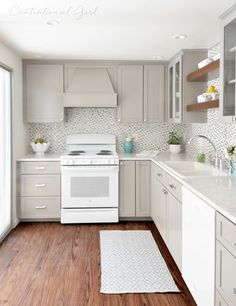 Centsational Girl remodeled her grandmother's kitchen with Formica® Laminate Carrara Bianco with IdealEdge™. Click through to see the entire process!