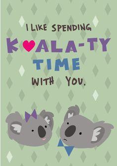 PREORDER: Koala Valentine Card Individual by DavidAustinReid