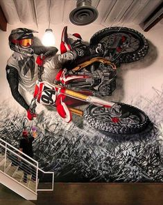 a boston based community that believes in the power of public art and creativity to literally transform lives and in making our streets alive. Motocross Tattoo, Motorcycle Tattoos, Motorcycle Art, Bike Art, Motorcycle Memes, Motocross Store, Motorcross Bike, Moto Enduro, Dirt Bike Room