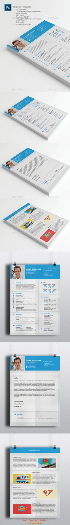Professional Resume Template   CV Template + Cover Letter + - resume word list